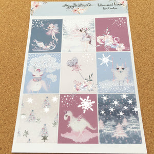Whimsical Winter with Silver Foil