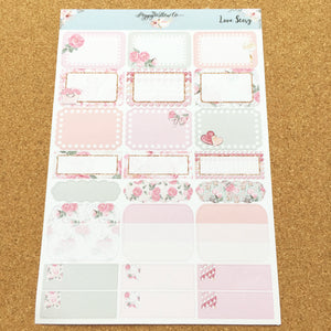 Love Story for Happy Planner with Gold Foil