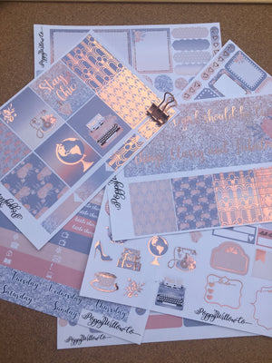 Vintage for Erin Condren with Rose Gold Foil