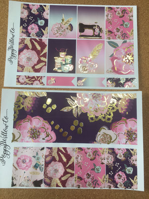 Sew Pretty with Gold Foil