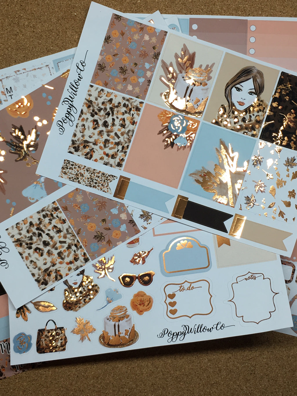Fall In Love for Happy Planner with Copper Foil