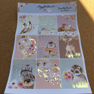 Forest Friends with Gold Foil