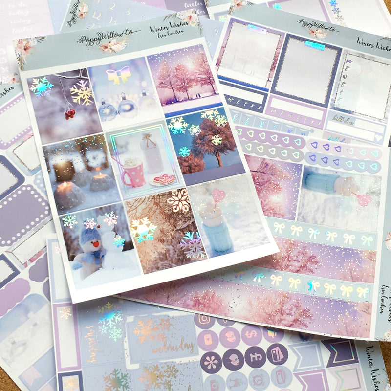 Winter Wishes with Premium Silver Holographic Foil