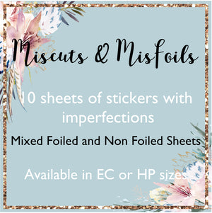 Miscuts & Misfoils - 10 Sheets