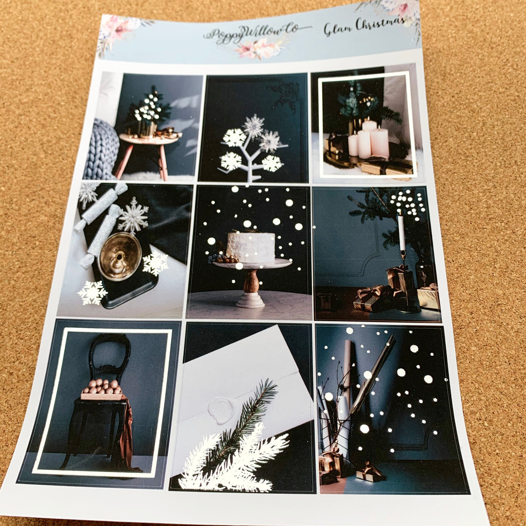 Glam Christmas with Silver Foil