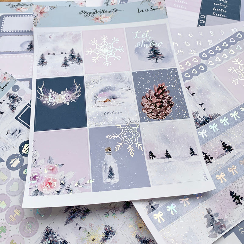 Let It Snow with Premium Silver Holographic Foil