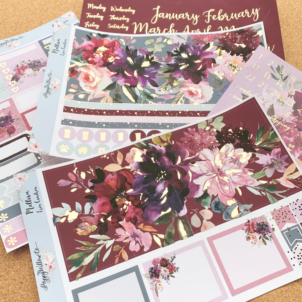 Mellisa Monthly for Erin Condren with Light Gold Foil