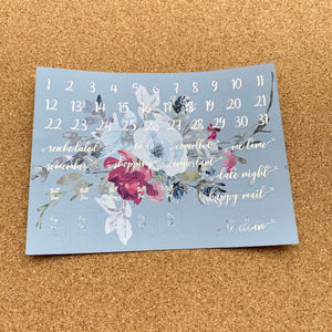 Iced Bouquet Monthly for Erin Condren with Premium Silver Cracked Ice Holographic Foil