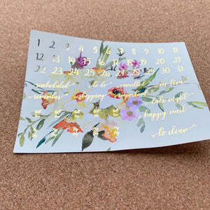 Narcissus Monthly for Erin Condren with Gold Foil