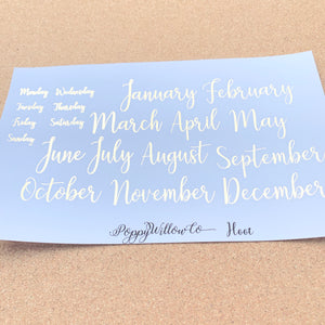 Hoot for Happy Planner Monthly with Light Gold Foil