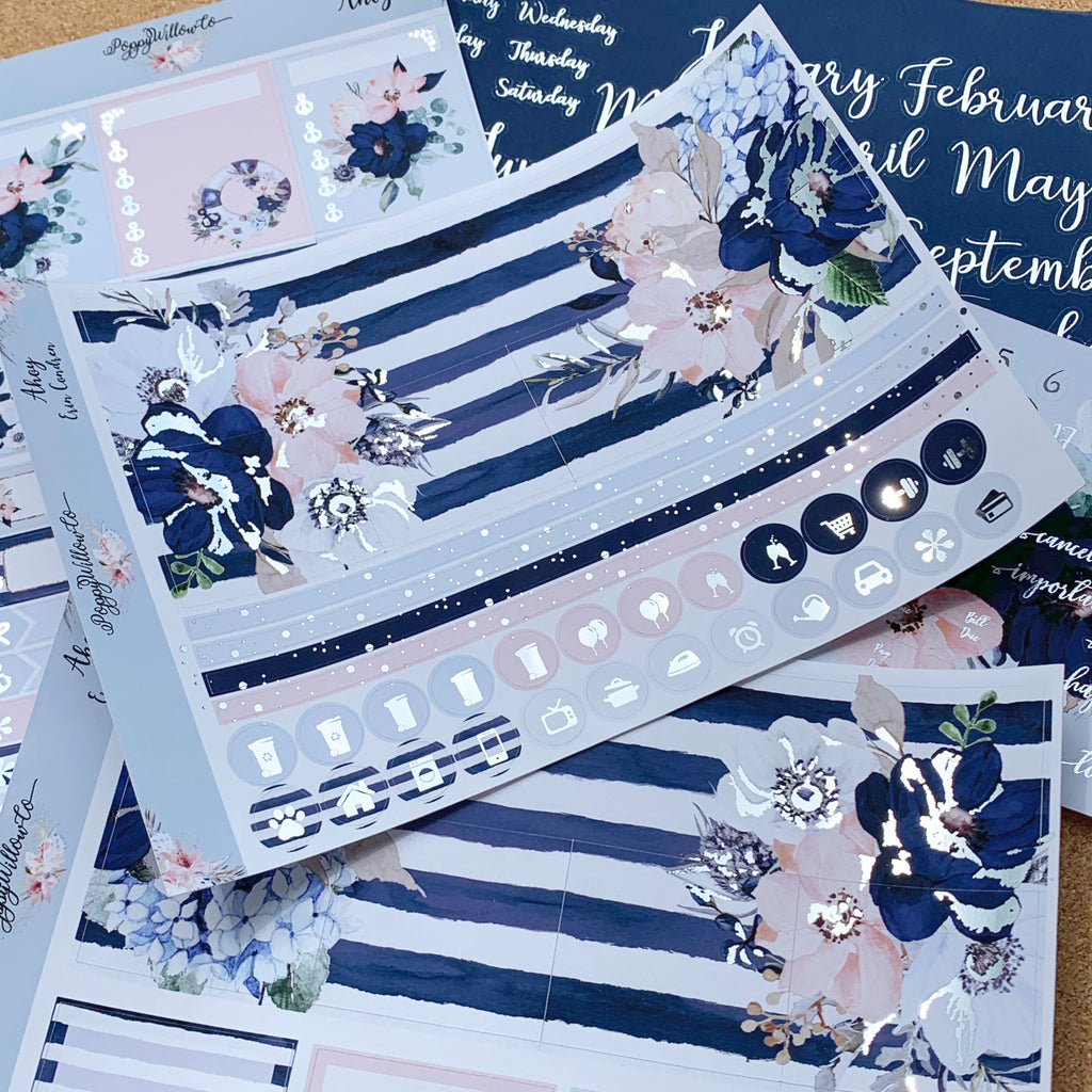 Ahoy Monthly for Erin Condren with Silver or Light Gold Foil