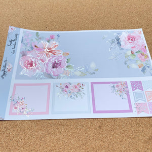 Emily Monthly for Erin Condren with Silver Foil