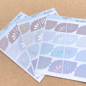 Foiled Scallop Corners- Choice of Colourway and Foil