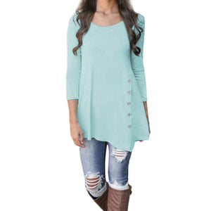 Women Long Sleeve Blouse Tunic T-Shirt