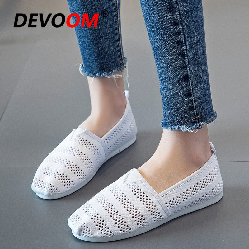 Summer Fashion Lace Shoes Women Shoes Woman  Slip on
