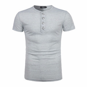 Short Sleeve Fit Pollover Shirt Solid Top