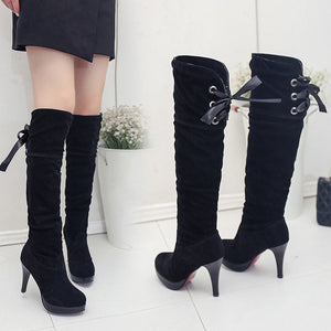 Women's High-Heel Thigh High Boots