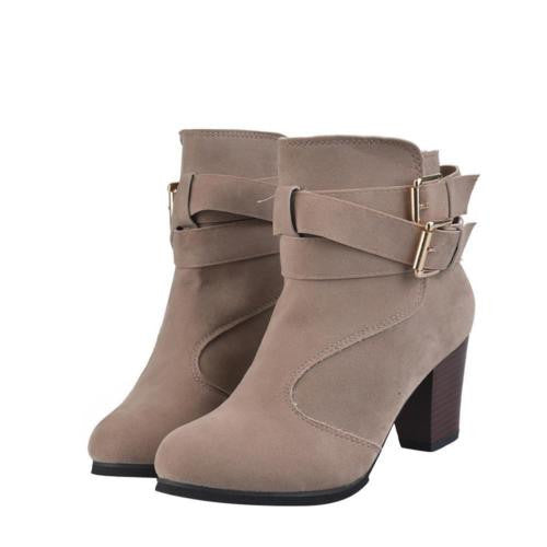 Womens Ladies Ankle Boots Suede