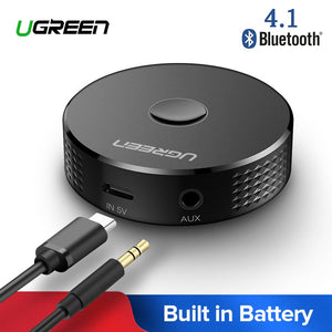 Ugreen 4.1 Bluetooth Receiver Wireless Music Adapter 3.5mm Jack Aux