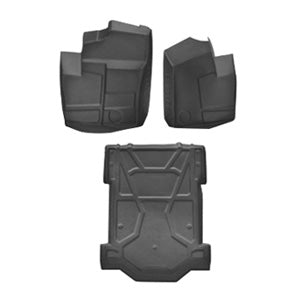 Polaris Rzr Xp 1000 2 seat Floor Mat Liner 3 pc Set W/ Cargo 2014 2015 2016 2017 2018 2019