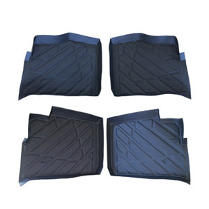 4 pc Set Polaris Ranger 1000, 900 XP Crew floor mats Liners rubber 2013-2017