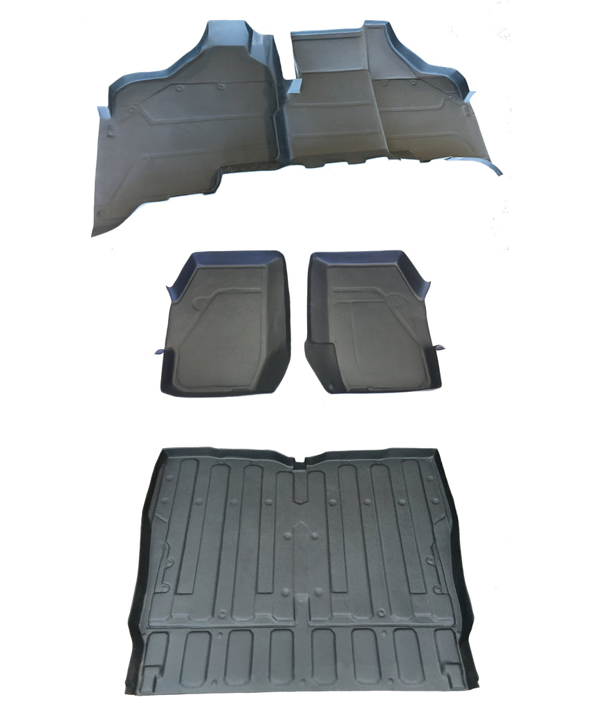 5 PIECE SET HONDA PIONEER RUBBER FRONT REAR & BED LINER MAT SXS 1000 M5