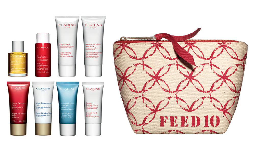 FEED + Clarins pouch