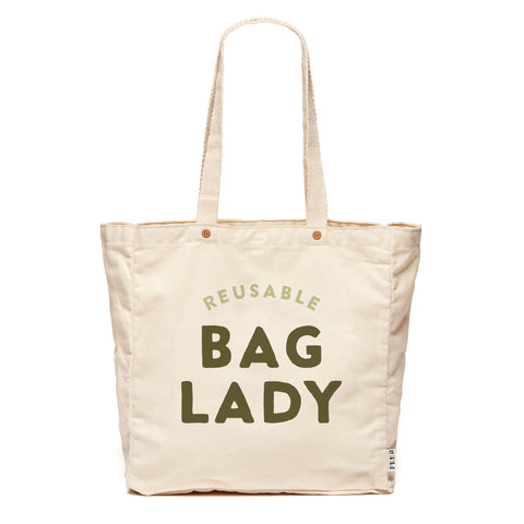 Natural Reusable Bag Lady
