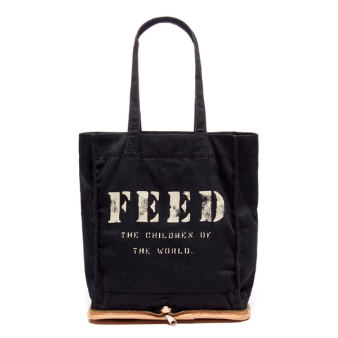 Black Packable Zip Tote