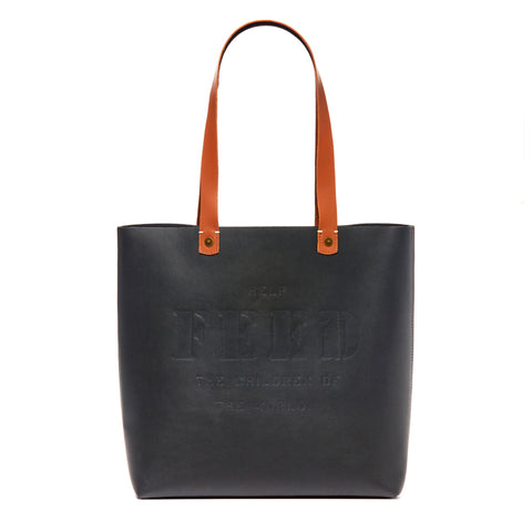 Black Colorblock Harriet Tote