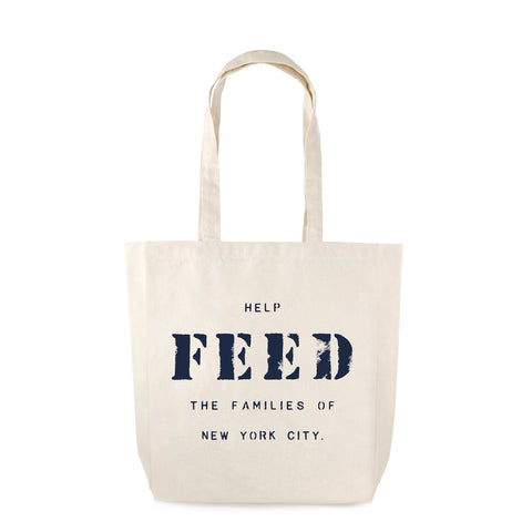 canvas FEED NYC Relief Bag