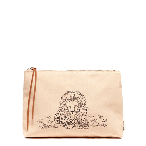 peach Lion Animal Pouch