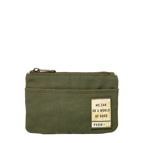Army Green FEED x National Geographic Pouch