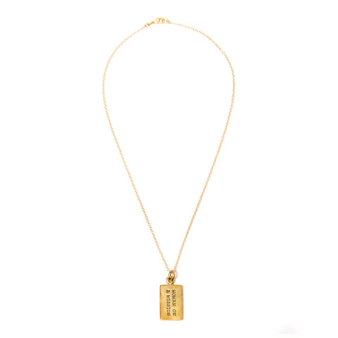 Brass Woman on a Mission Necklace