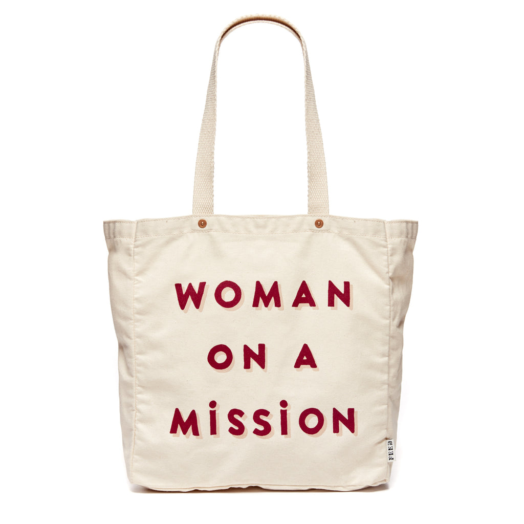 3999391664 FEED Woman on a Mission Canvas Tote