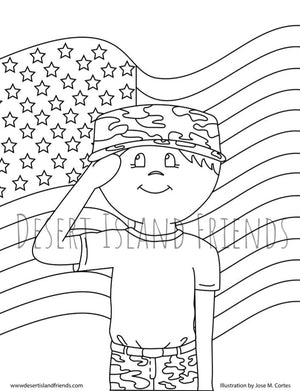 Boy Soldier Coloring Sheet
