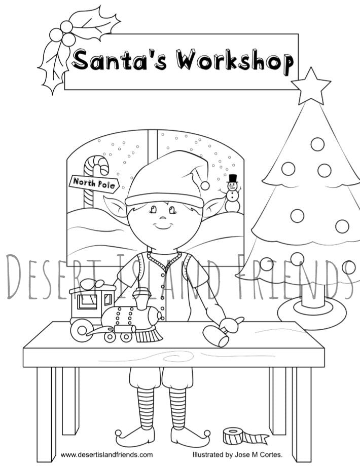 Boy Elf Coloring Sheet