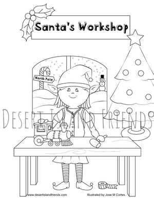 Girl Elf Coloring Sheet