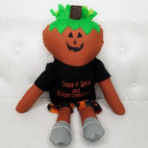 Jack-O-Lantern Halloween Holiday Dollie (Clearance)