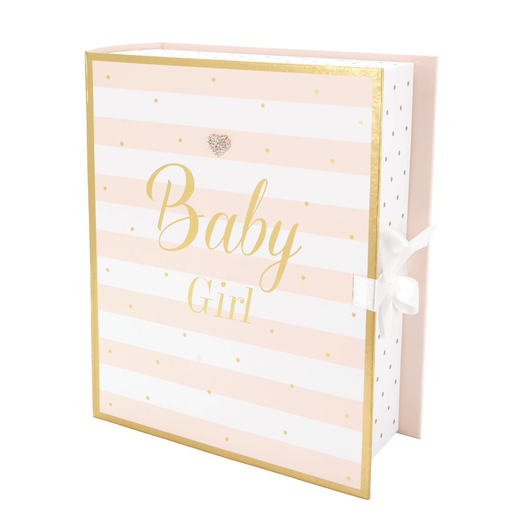 Mad Dots Baby Girl, Keepsake Box With Drawers