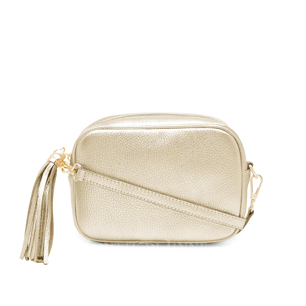 The Bella Cross Body Bag, Metallic Gold
