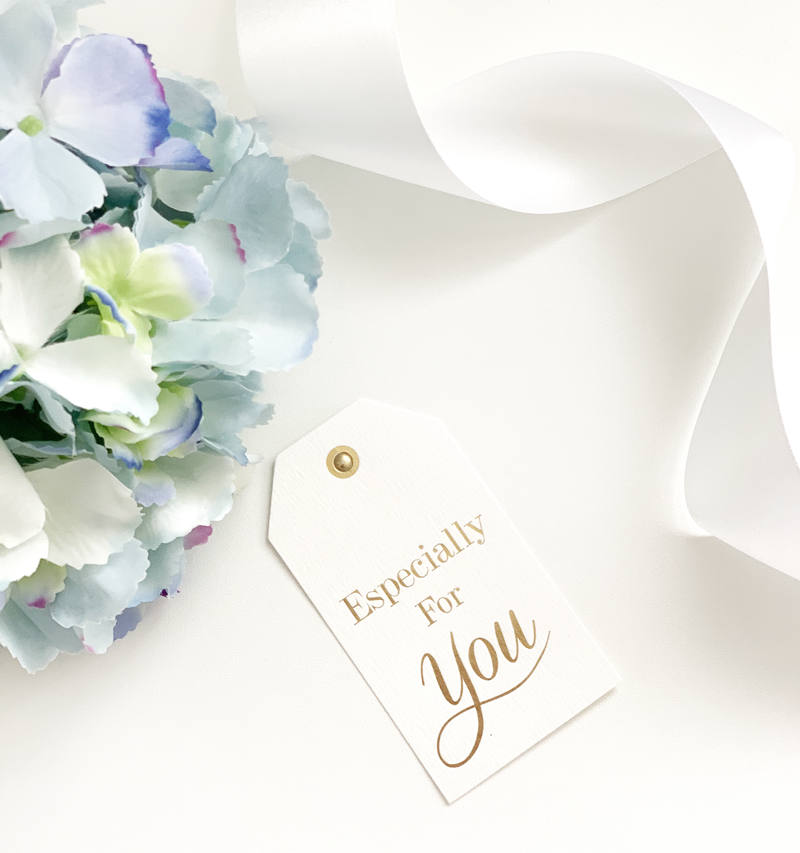 Hand Tied Bouquet Of Powder Blue Hydrangeas