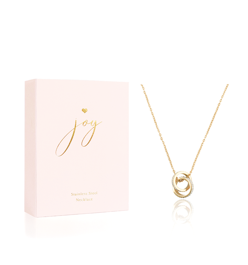 Hearts Jewellery, Looped Rings Necklace, Joy