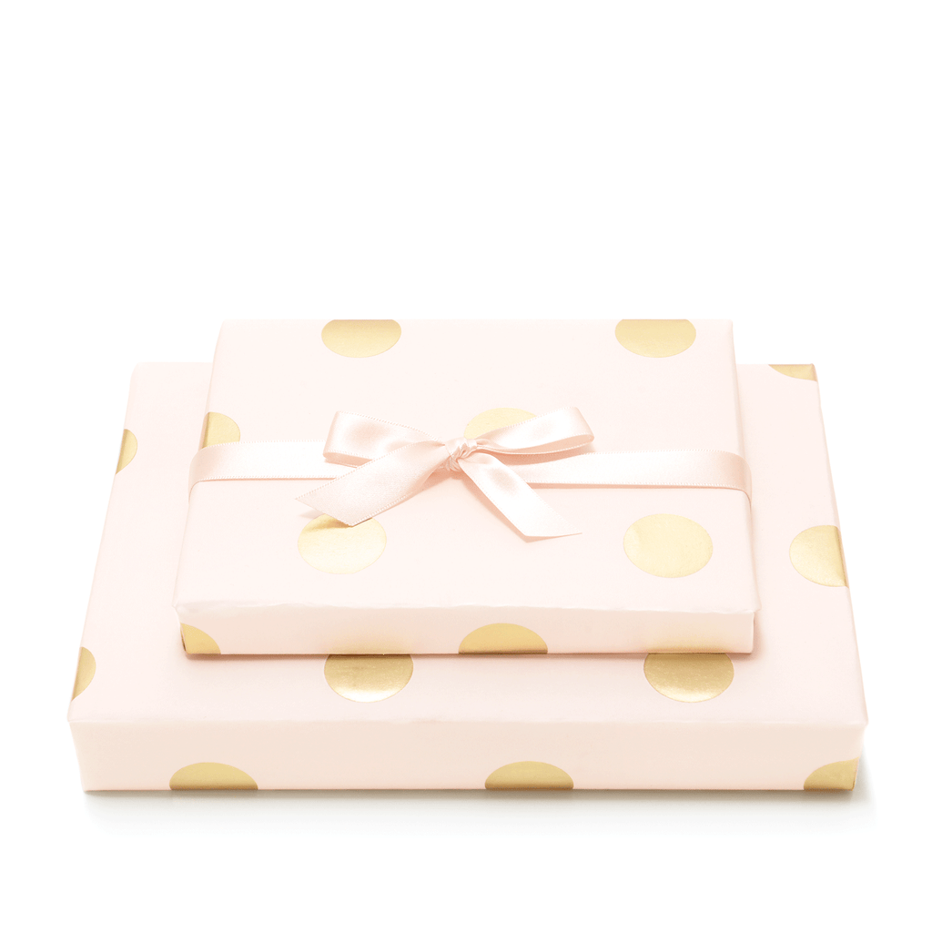 Mad Dots, Gift Wrap Sheet Plus 2 metres of Ribbon, Soft Pink
