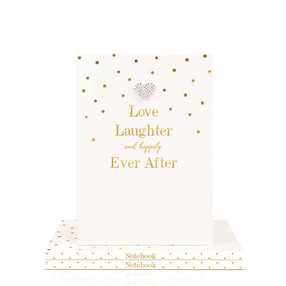 Mad Dots A5 Notebook, Love Laughter & Happily Ever After