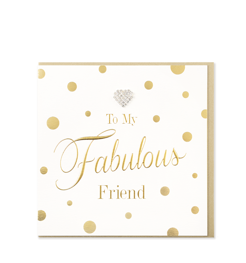 Mad Dots Greetings Card, Fabulous Friend