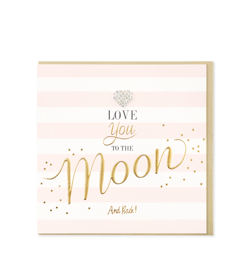 Mad Dots Greetings Card, Love You The Moon And Back