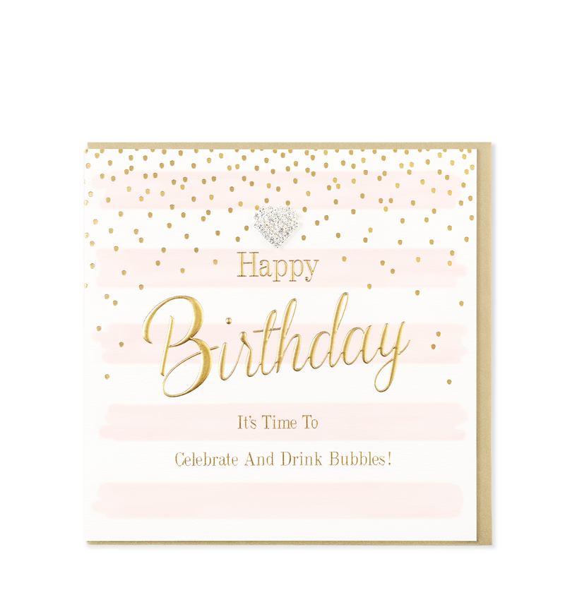 Mad Dots Greetings Cards, Happy Birthday, Celebrate & Drink Bubbles