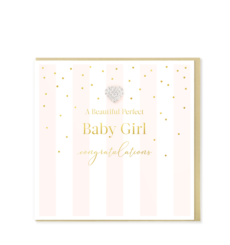 Mad Dots Greetings Card, Perfect Baby Girl, Congratulations