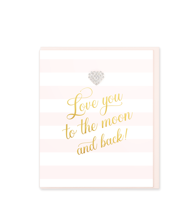 Mad Dots Greetings Card, Love You To The Moon And Back